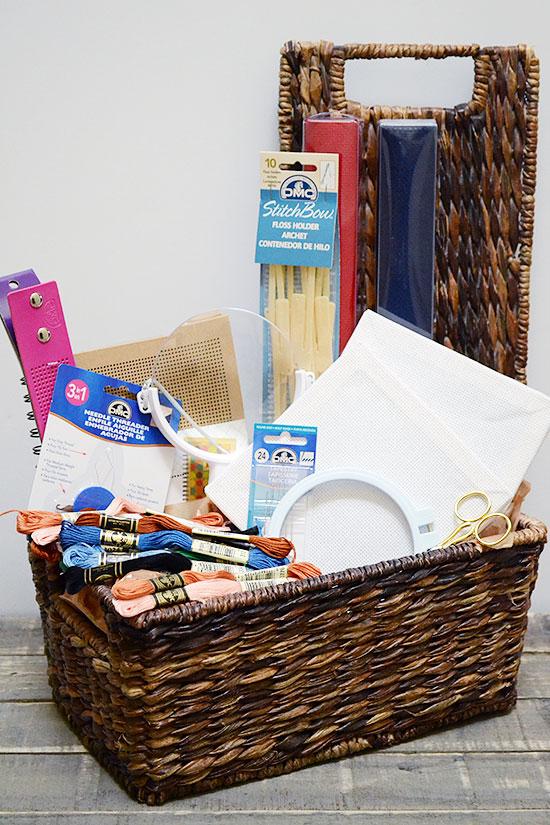 The Ultimate Beginning Cross-Stitcher Gift Basket